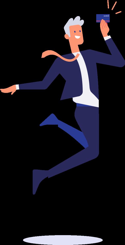 card-man-jump-alone